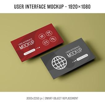 Maquette de l'interface utilisateur