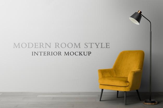 Maquette d'intérieur de chambre moderne psd
