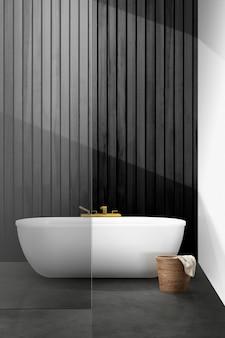 Maquette d'intérieur de salle de bain moderne psd