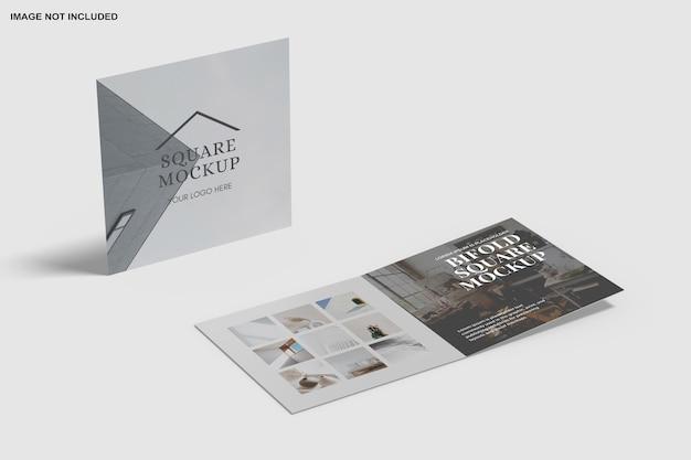 Maquette d'invitation à deux volets carrés