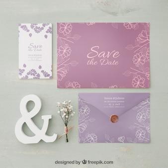 Maquette invitation de mariage élégant