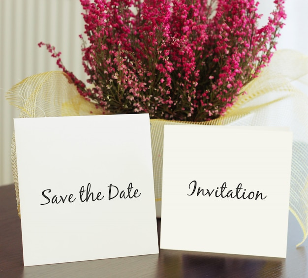 Maquette d'invitation de mariage