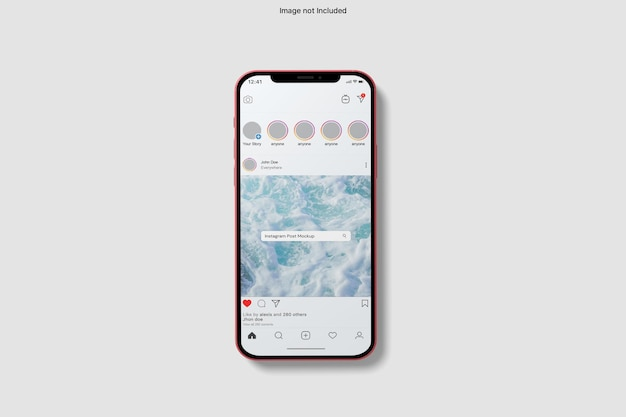 Maquette d'iphone de médias sociaux