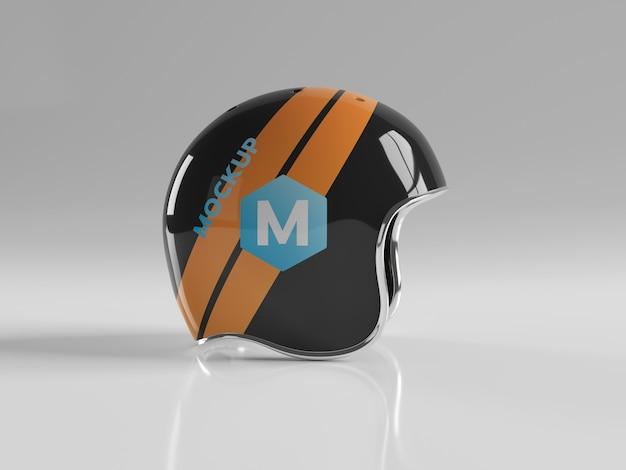 Maquette isolée de casque de moto