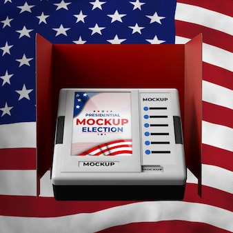 Maquette d'isoloir pour les élections présidentielles aux états-unis