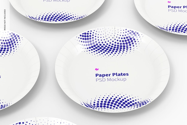 Maquette de jeu d'assiettes en papier
