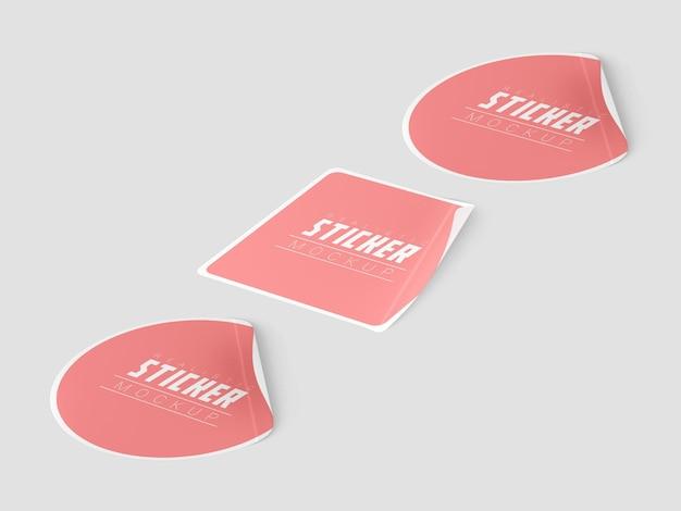 Maquette de jeu d'autocollants de perspective