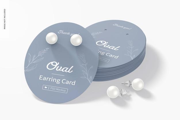 Maquette de jeu de cartes de boucle d'oreille ovale