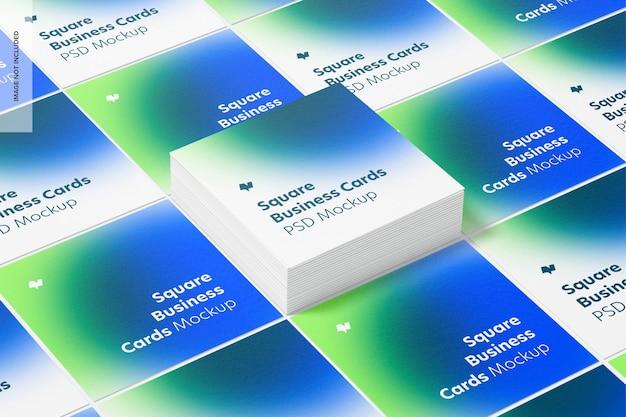 Maquette de jeu de cartes de visite carrées