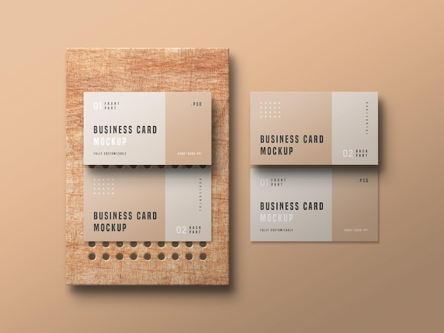 Maquette de jeu de cartes de visite