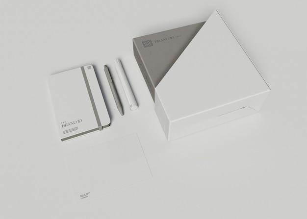 Maquette de jeu de papeterie de bureau
