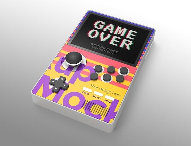 Maquette de jeu portable pour la publicité ou l'image de marque
