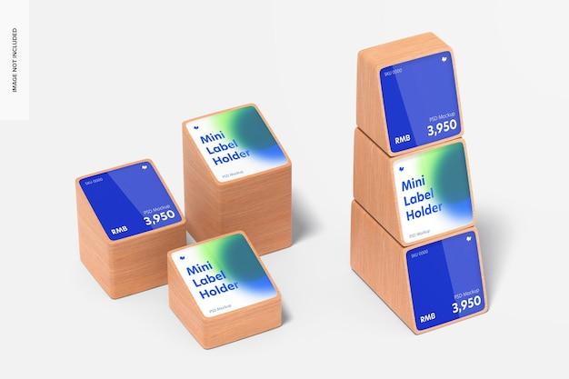 Maquette de jeu de porte-étiquettes de prix mini en bois