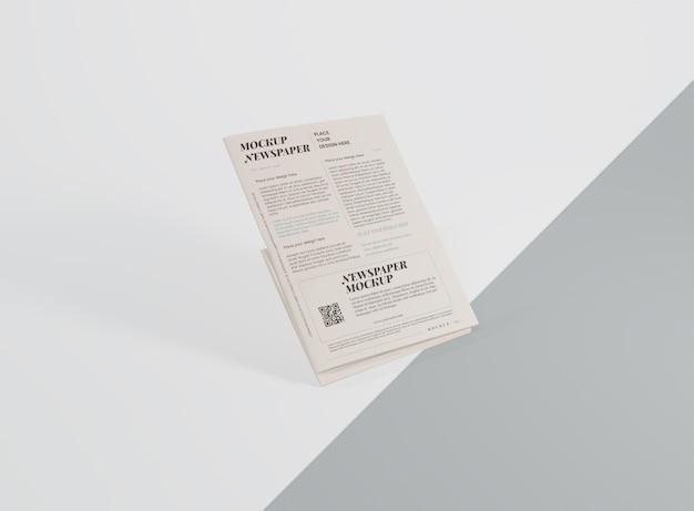 Maquette de journal des médias