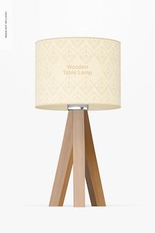 Maquette de lampe de table en bois, vue de face