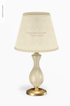 Maquette de lampe de table en céramique européenne