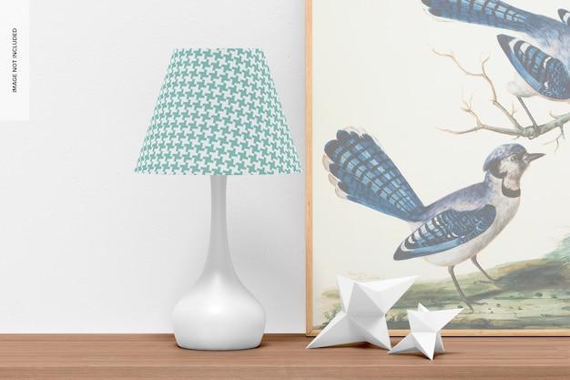 Maquette de lampe de table champignon en métal