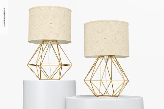 Maquette de lampes de table en fer industriel