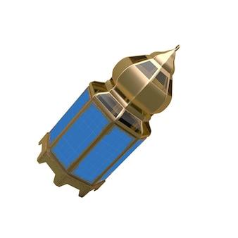 Maquette de lanterne sur blanc