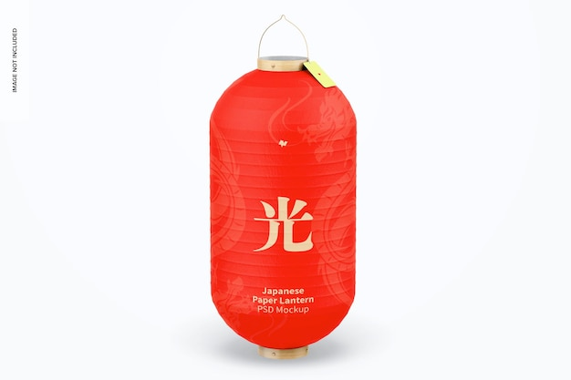 Maquette de lanterne en papier japonais