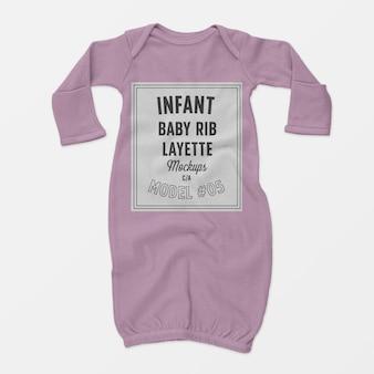 Maquette de layette de côtes infantile pour bébé 05