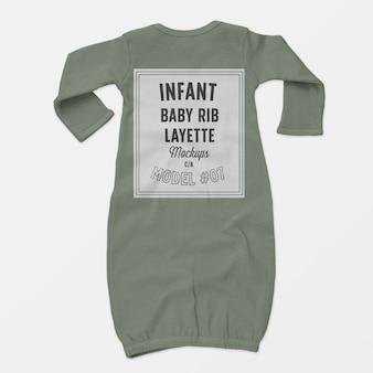 Maquette de layette de côtes infantile pour bébé 07