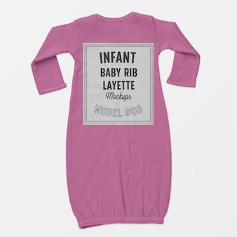 Maquette de layette de côtes pour bébé