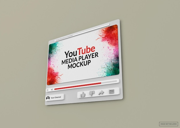 Maquette de lecteur multimédia youtube