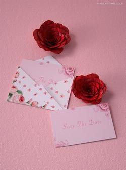 Maquette de lettre d'invitation de mariage