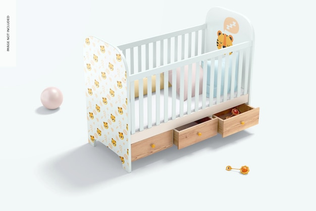 Maquette de lit de bébé