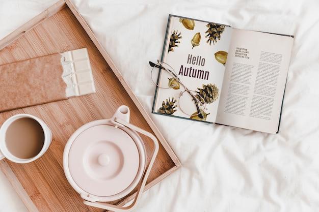 Maquette de littérature et d'automne