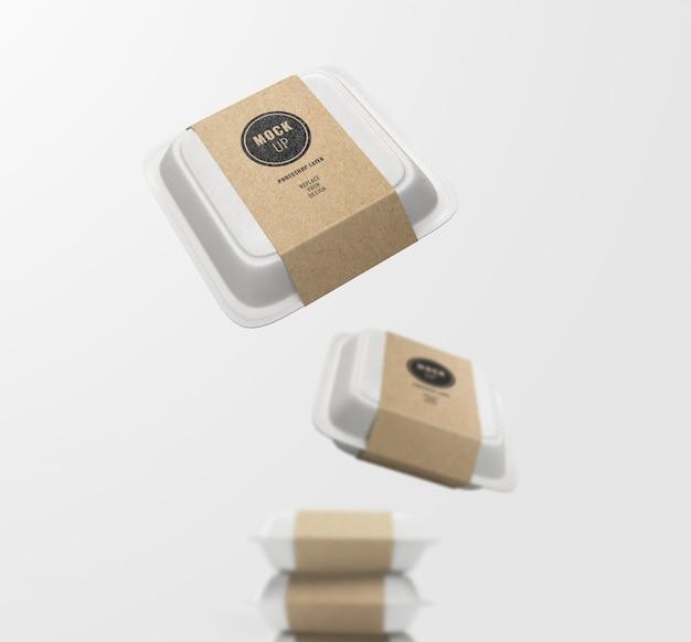 Maquette de livraison de boîte alimentaire