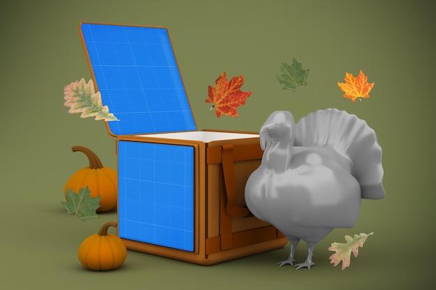 Maquette de livraison de thanksgiving