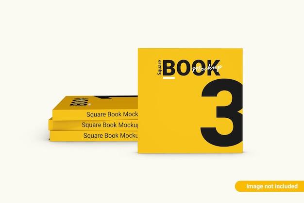 Maquette de livre carré isolé