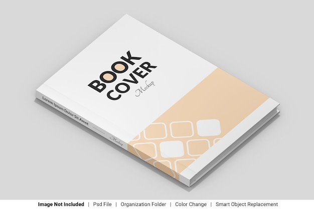 Maquette de livre de couverture avant