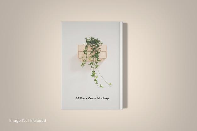 Maquette de livre de couverture isolée
