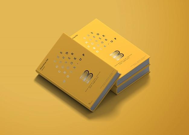 Maquette de livre à couverture rigide 5x8