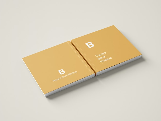 Maquette de livre à couverture rigide carrée