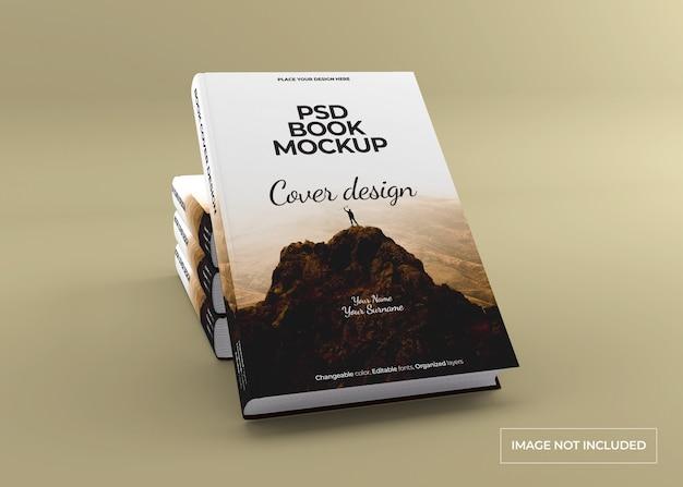 Maquette de livre à couverture rigide photoréaliste
