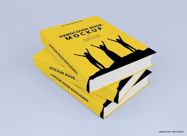 Maquette de livre à couverture rigide réaliste
