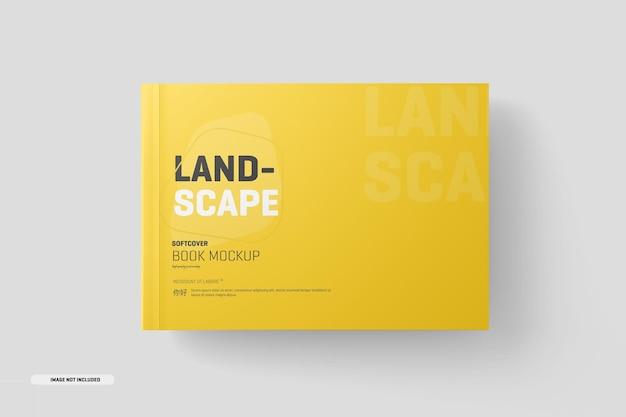 Maquette de livre à couverture souple de paysage