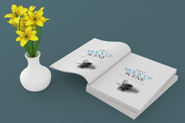 Maquette de livre à couverture souple