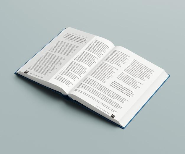 Maquette de livre épais ouvert isolée
