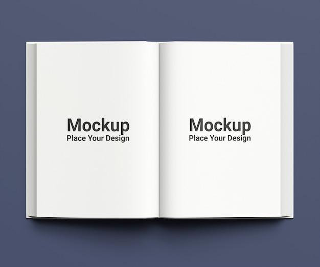 Maquette de livre horizontal ouvert