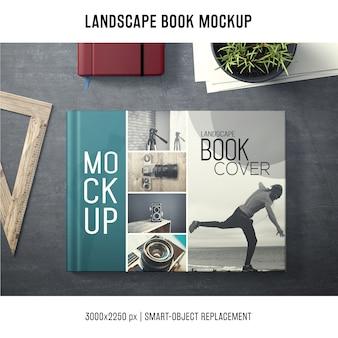 Maquette de livre de paysage
