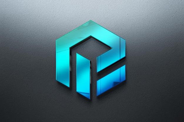 Maquette de logo 3 réaliste