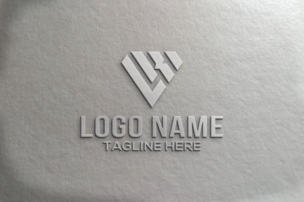 Maquette de logo 3d croom moderne