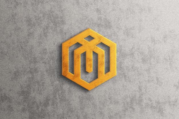 Maquette de logo 3d de luxe avec effet doré