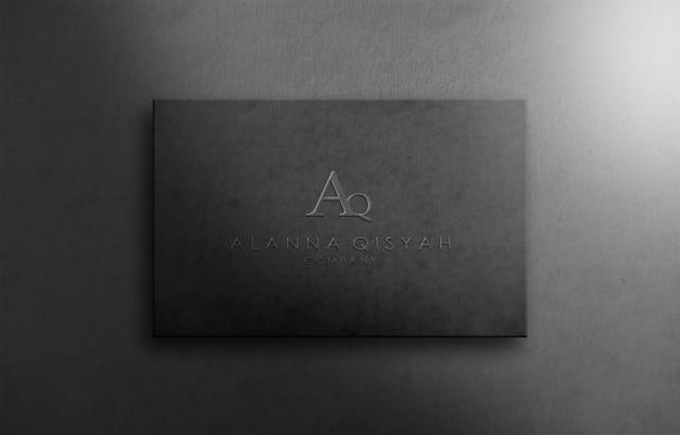 Maquette de logo 3d sur papier