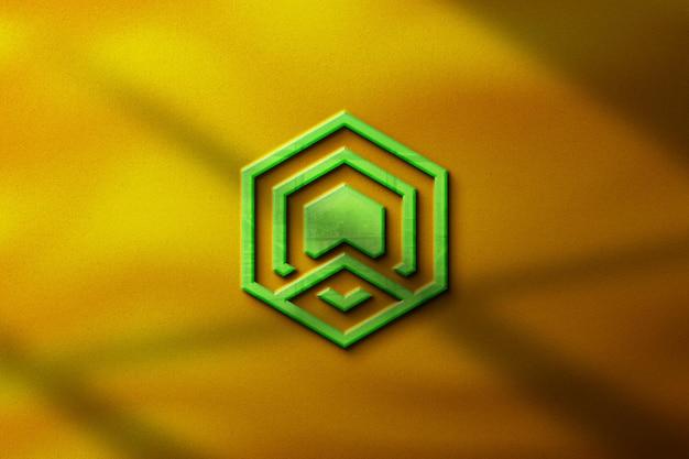 Maquette de logo 3d réaliste entreprise